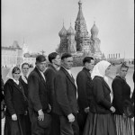 SOVIET UNION. Moscow. 1954. Red Square. People in line to visit Lenin's Mausoleum.