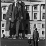 SOVIET UNION. Russia. Leningrad. 1973. A portrait of LENIN decorates a facade of the Winter Palace; for May Day celebrations and to commemorate the victory over the Nazis (9 May).