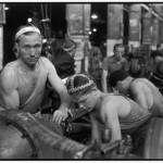 USSR. Moscow. 1954. Zis factory. The trucks production.