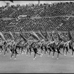 SOVIET UNION. Russia. Moscow. 1954. Stade Dynamo. Every year in July delegations from all over the Soviet Union gather to celebrate the day of sports.
